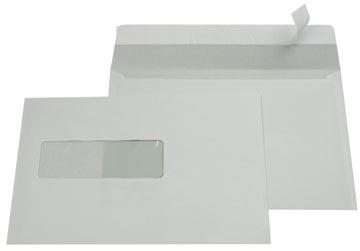 Gallery enveloppen ft 156 x 220 mm, venster links, stripsluiting, binnenzijde grijs, 500 stuks