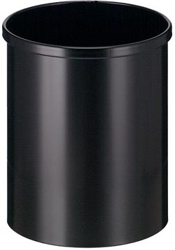 Eko papierbak uit metaal, inhoud 15 L, zwart