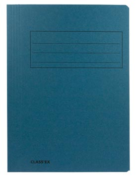 Class'ex dossiermap, 3 kleppen ft 23,7 x 34,7 cm (voor ft folio), blauw