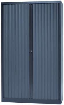 Bisley roldeurkast, ft 198 x 120 x 43 cm (h x b x d), 4 legborden, antraciet