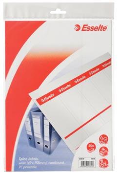 Esselte Printbare rugetiketten breed (voor ordners met rug van 7,5 cm), 50 stuks