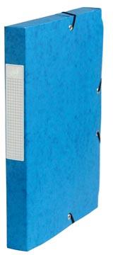 Pergamy elastobox, rug van 4 cm, donkerblauw