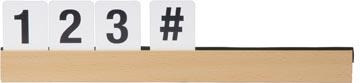 Securit letterplank inclusief letters en nummers, teak