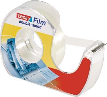 Tesafilm dubbelzijdige plakband, ft 12 mm x 7,5 m, op blister met dispenser