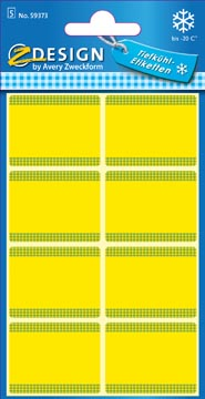 Avery diepvriesetiketten in blister, geel, 40 etiketten