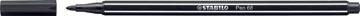 STABILO Pen 68 viltstift, zwart