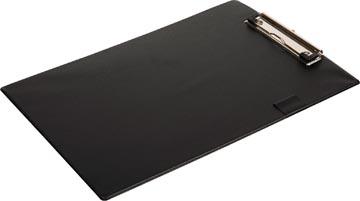 Pergamy klemplaat, voor ft A4, uit PVC, zwart