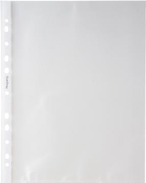 Pergamy geperforeerde showtas, ft A4, 11-gaatsperforatie, gekorrelde PP van 50 micron, pak van 100 stuks