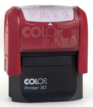 Colop formulestempel Printer tekst: PAYE