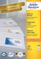 Avery Zweckform 3421, Universele etiketten, Ultragrip, wit, 100 vel, 33 per vel, 70 x 25,4 mm